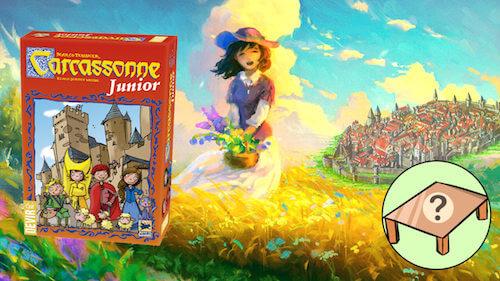 Carcassonne junior juego de mesa para niños mini